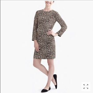 J. Crew Crepe Shift Dress in Cat Print